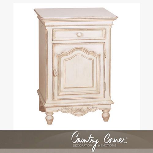 【送料無料】フランス白い家具ロマンティックホワイトファニチャー フランス カントリーコーナー 【Country Corner】 ナイトテーブル