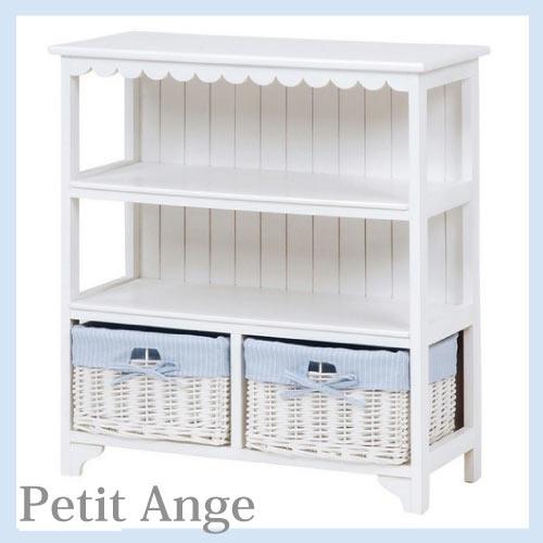 【送料無料】 Petit Ange~プティ・アンジュ~ バスケット付きフリルラック