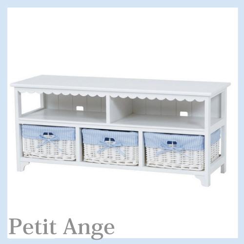 【送料無料】 Petit Ange~プティ・アンジュ~ フリルテレビボード(TV台)