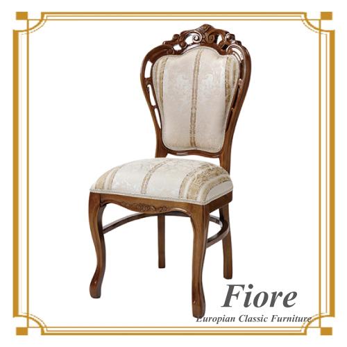 【送料無料】 ヨーロピアンクラシックスタイル Fiore~フィオーレ~ ストライプホワイトチェアデコ