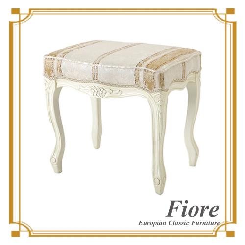 【送料無料】 ヨーロピアンクラシックスタイル Fiore~フィオーレ~ ストライプホワイトツール