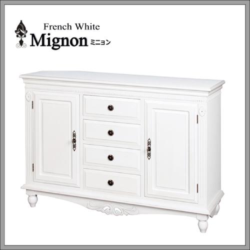 【送料無料】フレンチホワイト家具 Mignon~ミニョン~ サイドボード