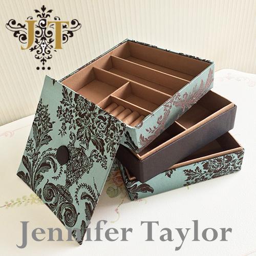 【8月限定 P10倍】ジェニファーテイラー Jennifer Taylor ジュエリーボックス・宝石箱(Carlisle)