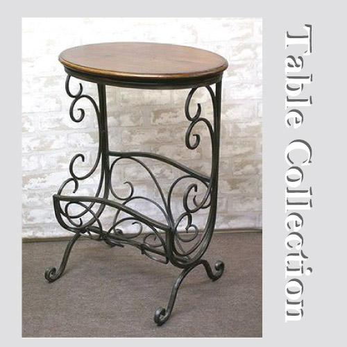 【送料無料】  アンティーク調のシンプルながら温もりあるシリーズ♪ 木製マガジンラックテーブル
