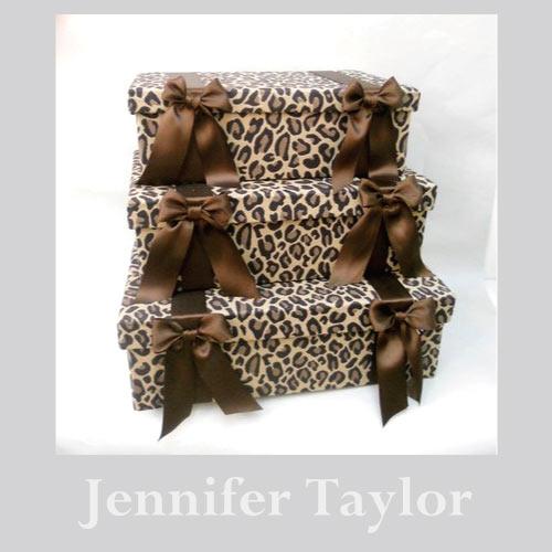 【送料無料】ジェニファーテイラー Jennifer Taylor リボンBOX3Pセット・カルトナージュ(Espresso)