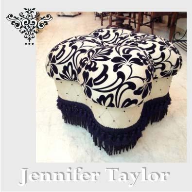 【P10倍 1/31 11:59まで】【送料無料】ジェニファーテイラー Jennifer Taylor クローバー型エレガントな スツール