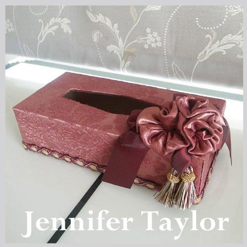 【送料無料】ジェニファーテイラー Jennifer Taylor ティッシュBOX・Lorraine-RE