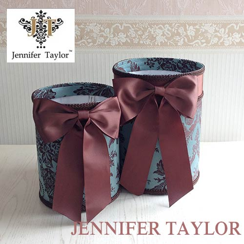 【8月限定 P10倍】ジェニファーテイラー Jennifer Taylor ダストBOX2PセットCarlisle ・Ribbon