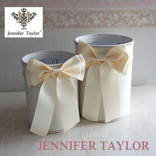 【送料無料】ジェニファーテイラー Jennifer Taylor ダストBOX2PセットChinon(WH) ・Ribbon