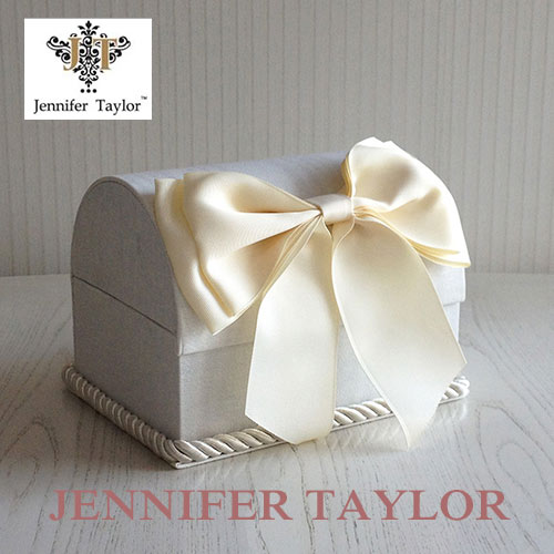 【送料無料】ジェニファーテイラー Jennifer Taylor トランクBOX-Chinon(WH)・Ribbon