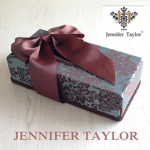 【8月限定 P10倍】ジェニファーテイラー Jennifer Taylor ティッシュBOX・Carlisle-Ribbon