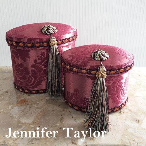 【P10倍 1/31 11:59まで】ジェニファーテイラー Jennifer Taylor オーバルBOX2Pセット・Lorraine-RE