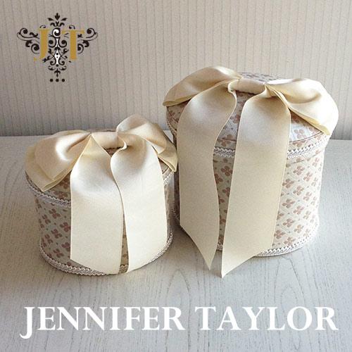 【送料無料】ジェニファーテイラー Jennifer Taylor オーバルBOX2P Lumina-Ribbon
