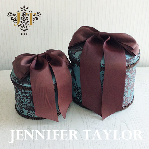 ジェニファーテイラー Jennifer Taylor オーバルBOX2P Carilsle-Ribbon