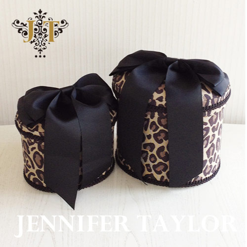 ジェニファーテイラー Jennifer Taylor オーバルBOX2P Espresso -Ribbon