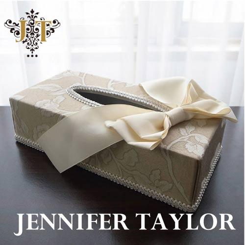 【P10倍 1/31 11:59まで】ジェニファーテイラー Jennifer Taylor ティッシュBOX・Heirloom-Ribbon