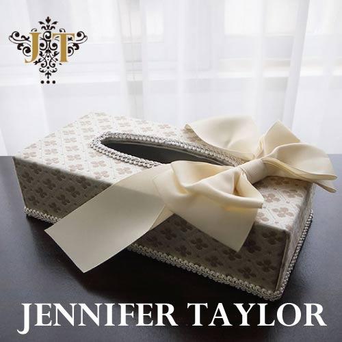 【P10倍 1/31 11:59まで】ジェニファーテイラー Jennifer Taylor ティッシュBOX・Lumina-Ribbon