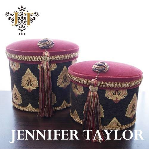 【P10倍 1/31 11:59まで】ジェニファーテイラー Jennifer Taylor オーバルBOX2P・Ritz