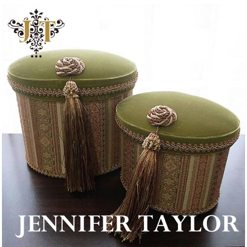 【P10倍 1/31 11:59まで】ジェニファーテイラー Jennifer Taylor オーバルBOX2P・Kedleston・GN