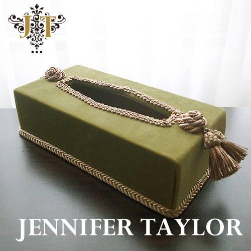 【ポイント10倍 8月】ジェニファーテイラー Jennifer Taylor ティッシュBOX・Kedleston・GR