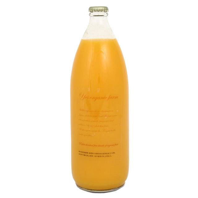【自然栽培】オーガニック 完全無添加 熊本県産 不知火オレンジストレート100%ジュース 1L