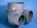 アロン小口径マス 段差付平行90°合流100×100-150