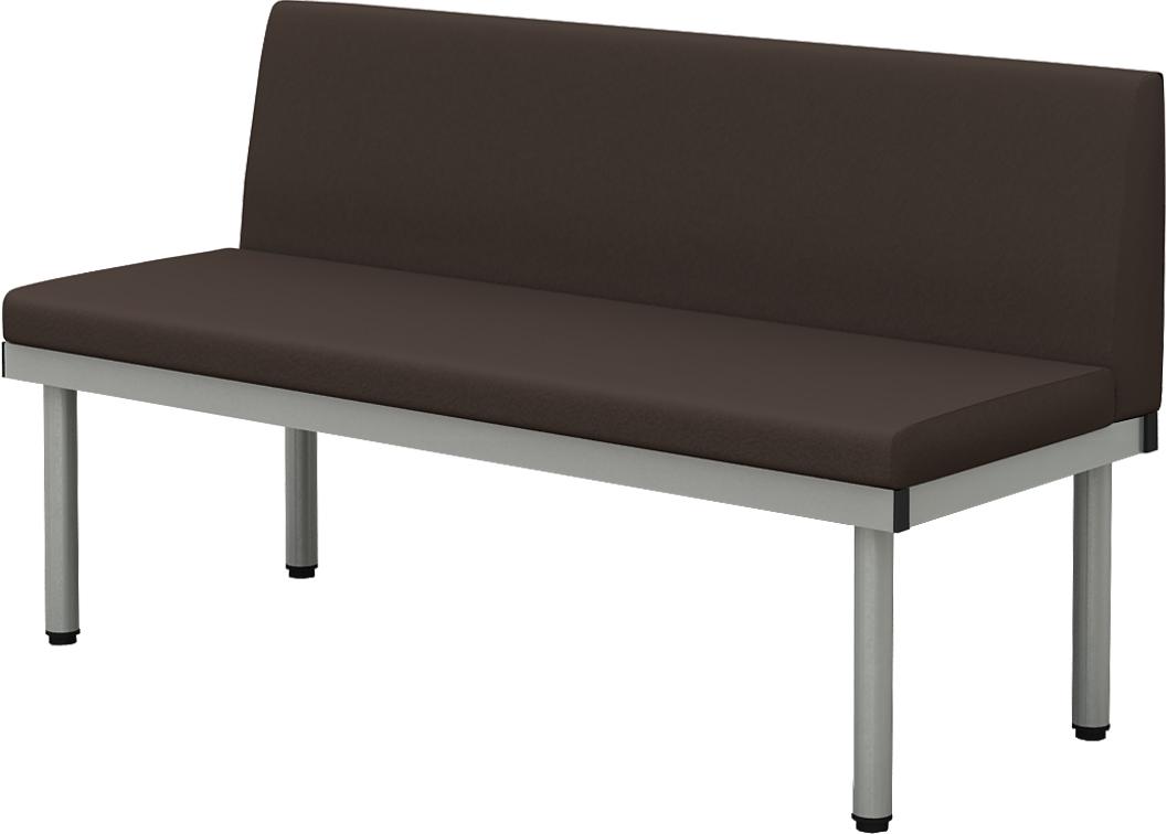 ベンチL型長椅子幅1200奥行500高さ400ブラウン