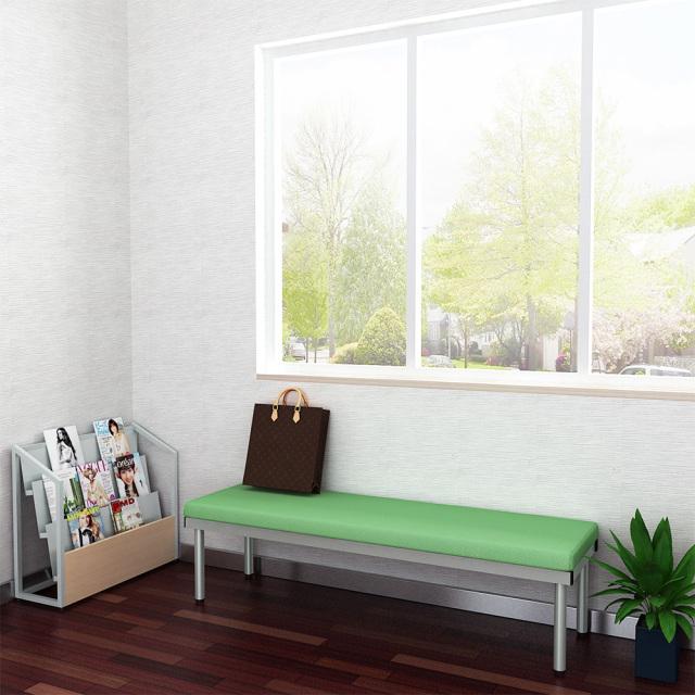 bcf-1545-gr_1.jpg ベンチ 平ベンチ 150cm グリーン セット写真 1000×1000px set