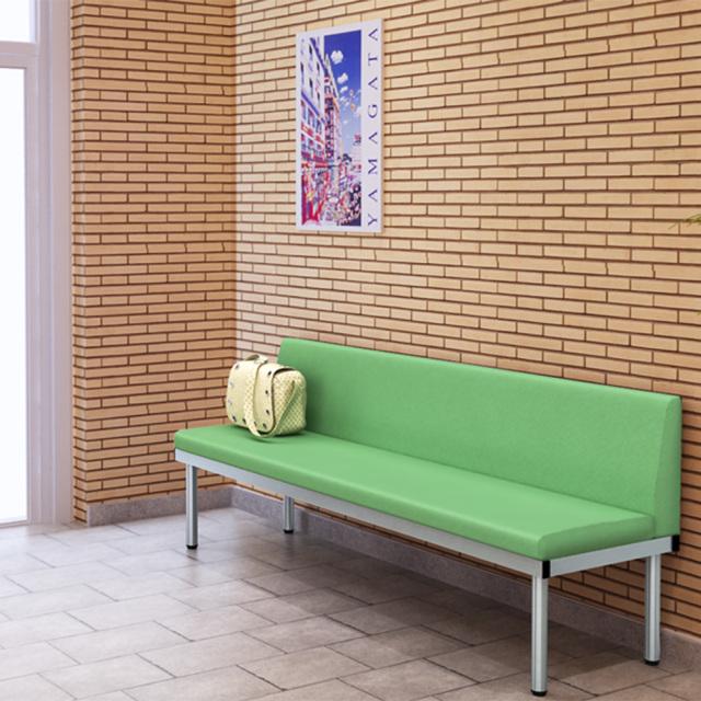 bcl-1850-gr_2.jpg ベンチ 背付きベンチ 背付ベンチ 180cm グリーン セット写真 1000×1000px set