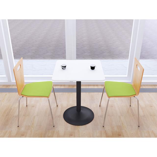 ctrr-60s-wh_1.jpg カフェテーブル 60cm 角 四角 □ ホワイト スチール脚ブラック セット写真 1000×1000px