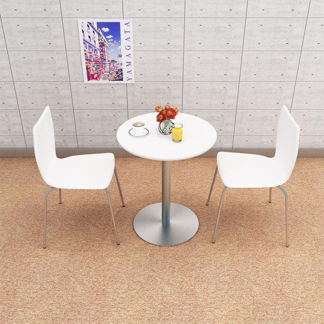 cttr-60r-wh_3.jpg カフェテーブル 60cm 丸 ホワイト ステンレス丸脚 セット写真 1000×1000px