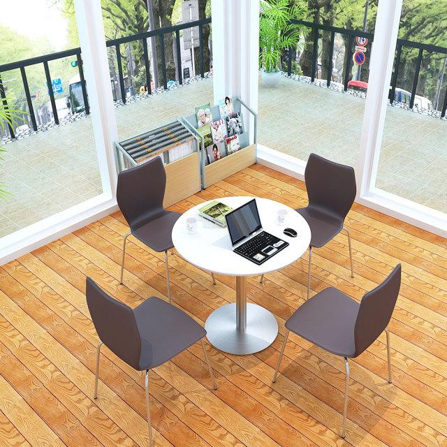 cttr-75r-wh_1.jpg カフェテーブル 75cm 丸 ホワイト ステンレス丸脚 セット写真 1000×1000px