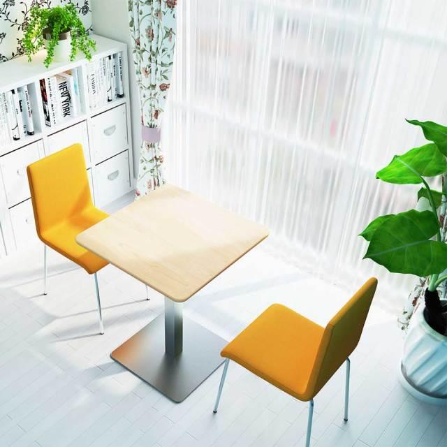 ctts-60s-na_1.jpg カフェテーブル 60cm 角 ナチュラル木目 ステンレス角脚 セット写真 1000×1000px