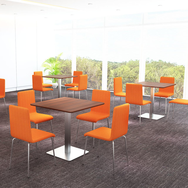 ctts-75s-db_1.jpg カフェテーブル 75cm 角 ブラウン木目 ステンレス角脚 セット写真 1000×1000px