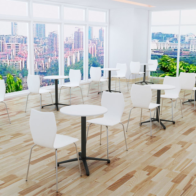 ctxb-60r-wh_1.jpg カフェテーブル ホワイト 60cm 丸 アルミX脚ブラック セット写真 1000×1000px