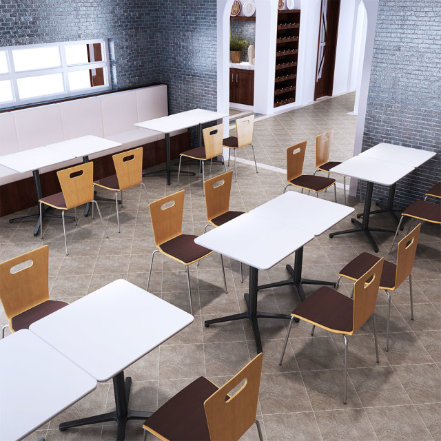 ctxb-60s-wh_1.jpg カフェテーブル ホワイト 60cm 角 アルミX脚ブラック セット写真 1000×1000px