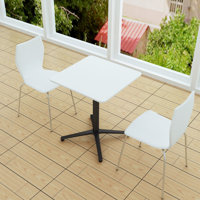 ctxb-60s-wh_2.jpg カフェテーブル ホワイト 60cm 角 アルミX脚ブラック セット写真 1000×1000px