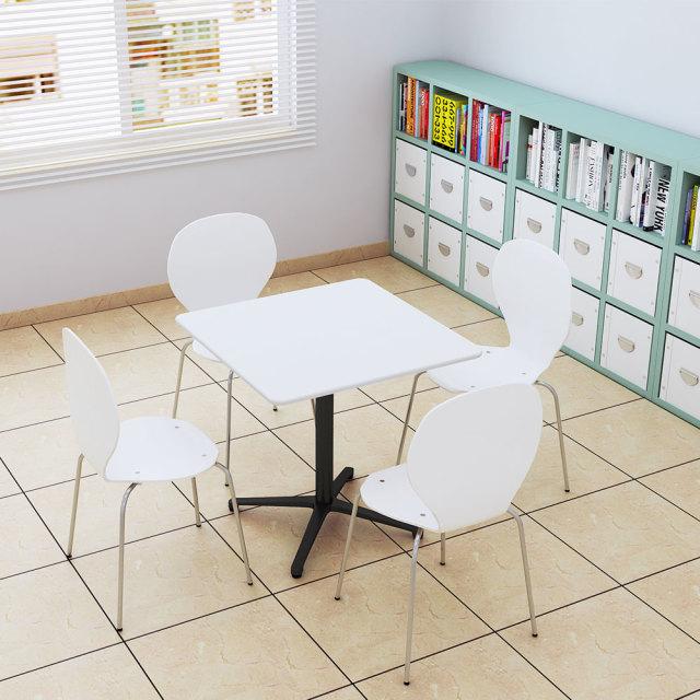 ctxb-75s-wh_1.jpg カフェテーブル ホワイト 75cm 角 アルミX脚ブラック セット写真 1000×1000px