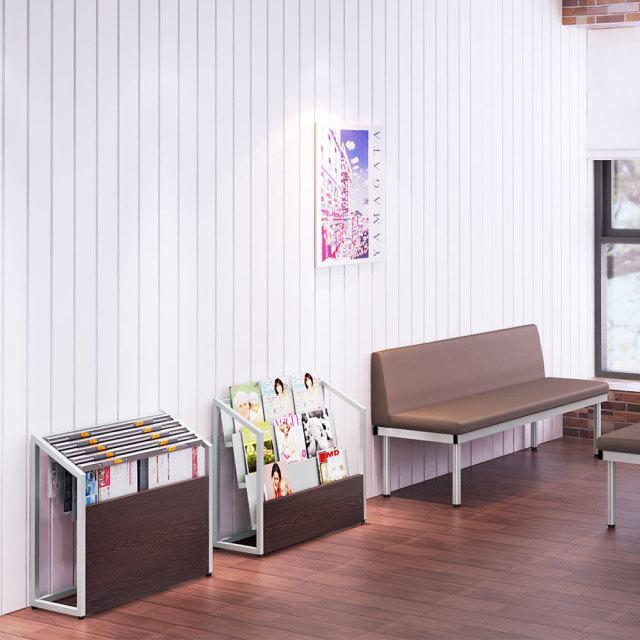 ns-0625-br_1.jpg 新聞ラック 新聞ストッカー 新聞台 ブラウン セット写真 1000×1000px NS-0625-BR
