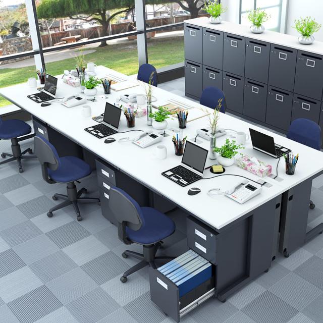 オフィスデスク 平机 幅120cm oad-1270-whbk