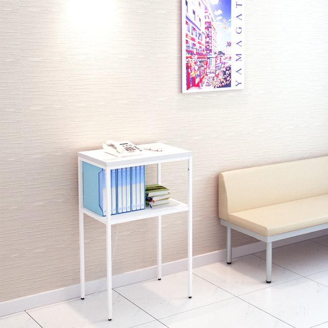 telst-0696-wh_1.jpg 電話台 テレフォンスタンド ホワイト 幅60cm セット写真 set 1000×1000px TELST-0696-WH