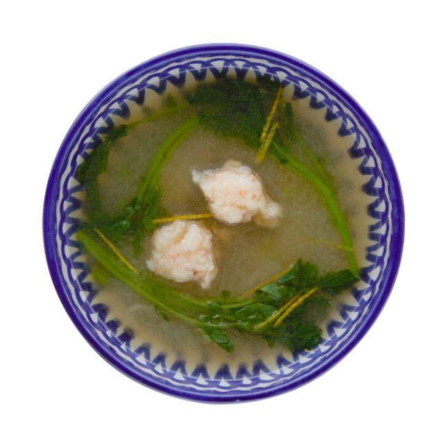 海老団子とかぶのすり流しスープ