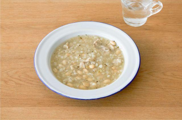 豆と押麦の満腹スープ イメージ