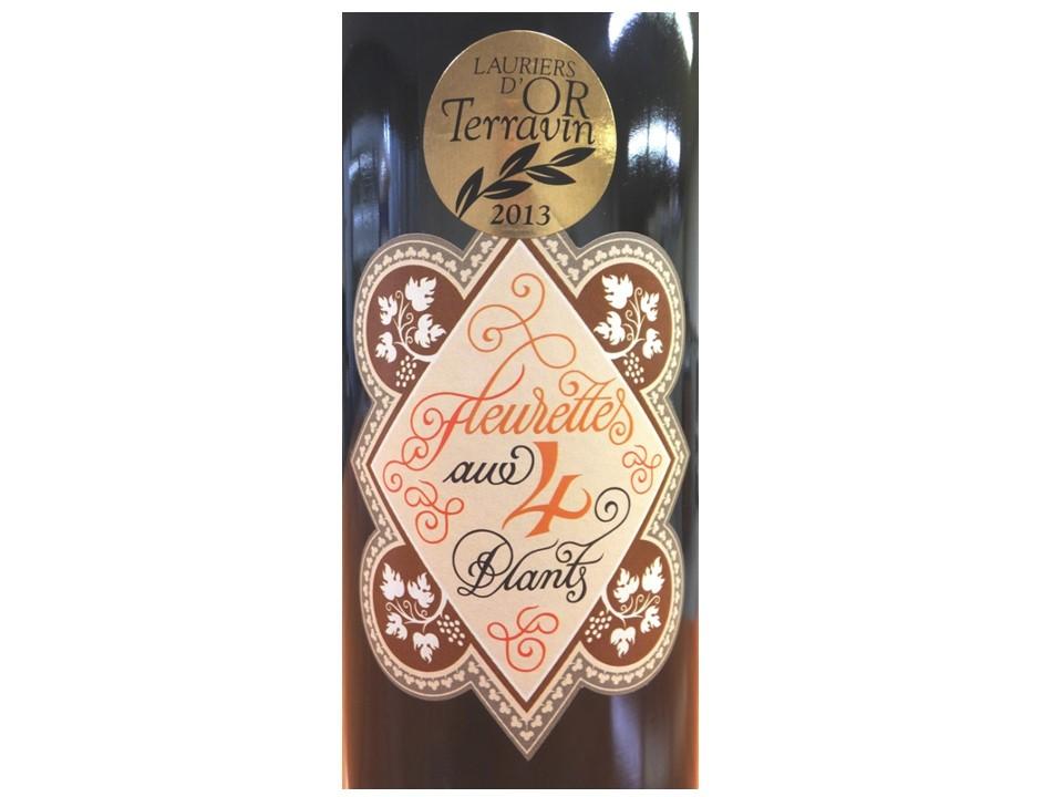 《年内限定特別価格!小瓶用ギフトボックス代込み》【昔ながらのエチケットも美しい、古式ゆかしい4品種ブレンド】スイス白ワイン, Fleurettes 4 Plants フルレット キャトル プラン, Lavaux AOC, 2015, 375ml