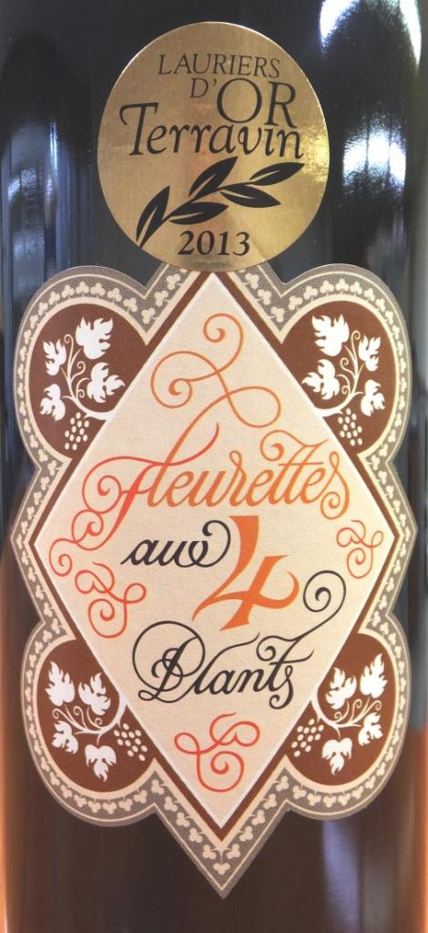 《小瓶で登場!》【昔ながらのエチケットも美しい、古式ゆかしい4品種ブレンド】スイス白ワイン, Fleurettes 4 Plants フルレット キャトル プラン, Lavaux AOC, 2015, 375ml
