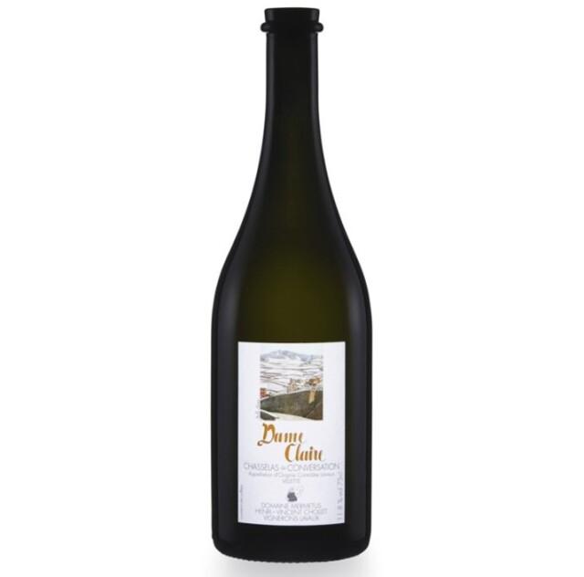 【世界遺産「ラヴォーのブドウ段々畑」のワイン】シャスラ100%白ワイン, Dame Claire  ダム・クレール、 Lavaux AOC Epesses エペス, 2019, 750ml