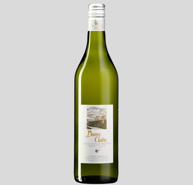 【世界遺産「ラヴォーのブドウ段々畑」のワイン】シャスラ100%白ワイン, Dame Claire  ダム・クレール、 Lavaux AOC Epesses エペス, 2017, 750ml