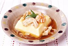 卵豆腐のさんごヤマブシタケあん