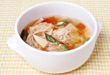 さんごヤマブシタケと季節の野菜のスープ