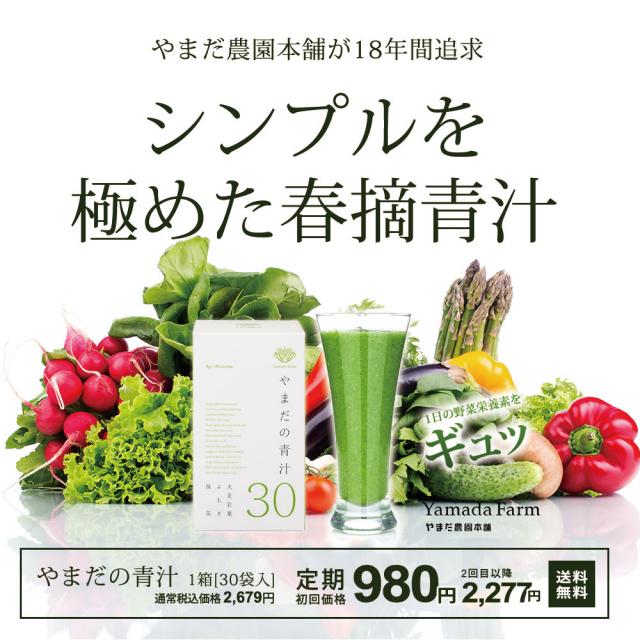定期購入【送料無料】やまだの青汁30|3g×30袋 定期でお得に!緑茶感覚で野菜不足解消をサポート!毎日続ける健康青汁習慣